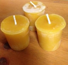 Bees wax votives
